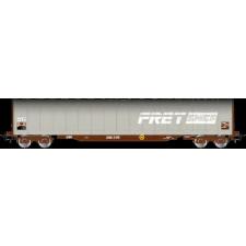 SNCF FRET, 4-axle tarpaulin wagon type Rils, grey livery, period V
