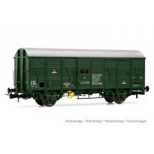SNCF, wagon fermé à 2 essieux G4, livrée vert olive, ép. IV-V