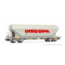 UNICOPA, wagon-trémie à 4 essieux à parois plates, livrée  Unicopa , é