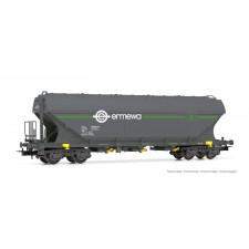 ERMEWA, wagon-trémie à 4 essieux Uagps à parois plates, livrée  Ermewa