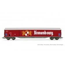 SNCF, wagon à parois coulissantes à 4 essieux Habis, livrée rouge  Kro