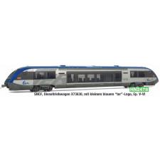 SNCF, X 73630 diesel railcar, small blu  logo, ep. V-VI