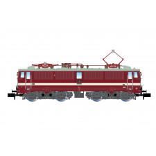 DR, loc elec classe 211, livrée rouge avec  ligne blanche de décoratio