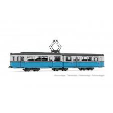 Tram Duewag Gt6, version Heidelberg, livrée bleu/blanc, ép. IV, avec d