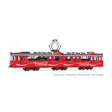 Tram Duewag Gt6, version Heidelberg, livrée  Coca Cola , ép. IV, avec