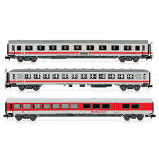 Set x 3 coaches   IC train  DB white/red