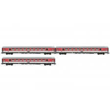 Set x 3 coaches, InterCity-Wagen, Bpmz,red