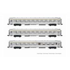 SNCF, set de 3 voitures DEV Inox