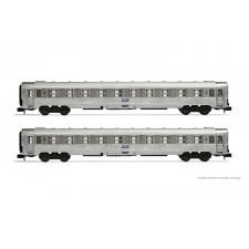 SNCF, set de 2 voitures DEV Inox, composé de 2 x voitures B10, ép. IV