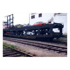 SNCF, set de 2 unités, fourgon porte-automobiles DD DEV 66, livrée ver