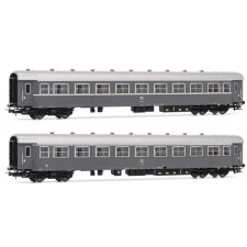Set 2 coaches Type 59 FS grey livery, 2nd cl.  ristoro  with ivory str