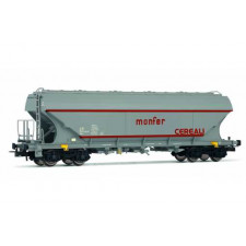 Set of two flat sided hopper wagons  Monfer
