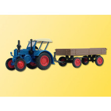 H0 LANZ Traktor mit Gummiradw