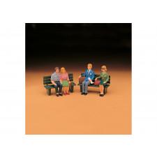 Reisende, sitzend, Set 2