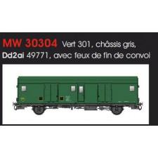 FOURGON METALLISE EX MIDI SNCF - FEUX DE FIN DE CONVOI/IIId