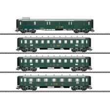 Oldtimer-Personenwagen-Set, 4 Wag,SBB,II