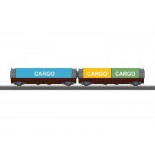 Coffret de wagons porte-conteneurs MyWorld