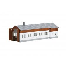 Kit d'un hangar à locomotive à un emplacement avec habitation pour le