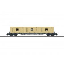 Wagon porte-conteneurs polyvalent Sgjs 716 , DB ,époque IV