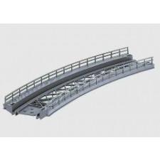 pont en courbe voie K  r 424,6 mm