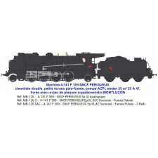 4-141 F 309 SNCF PERIGUEUX / MONTLUÇON tender 25 m³ 25 A 47 - SOUND &
