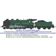 4-141 E 425 SNCF MONTLUÇON / CAPDENAC tender 25 m³ 25 A 593 - SOUND &