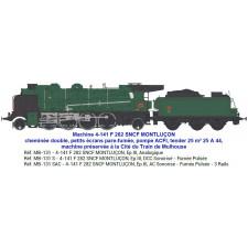 4-141 F 282 SNCF MONTLUÇON, tender 25 m³ 25 A 44 - SOUND & FUMEE