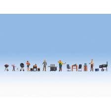 Figurines thématiques « Le barbecue » ,