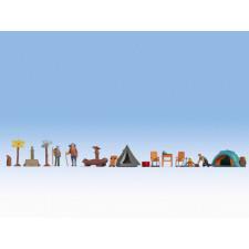 Figurines thématiques « Le camping » ,