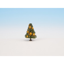Sapin de Noël illuminé, vert, avec 10 LEDs, 5 cm de haut, H0,TT,N,Z