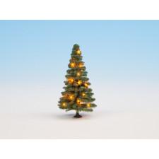 Sapin de Noël illuminé, vert, avec 20 LEDs, 8 cm de haut, 0,H0,TT,N