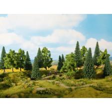 Forêt Mixte, 16 pièces, 10 – 14 cm, H0,TT