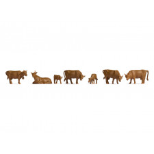 Vaches Brunes  9 figurines