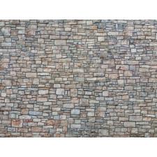 "Feuille en carton 3D ""Mur de Moellon"", multicolore, H0"