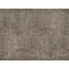 """Feuille en carton 3D """"Tuile alsacienne"""", gris, H0"""