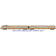 SNCF RGP 1 orange et gris béton,ALPAZUR, Ep.IV-V