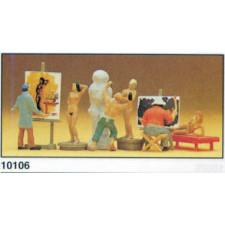 peintre sculpteur et modèle