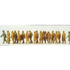 prisonniers de guerre russes, 19 fig non peintes