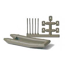 Schlauchboot. Paddel (Militaire)