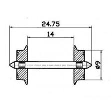 Radsatz H0 AC 9mm            1