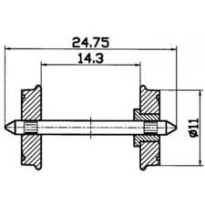 Radsatz 2fachisol. 11mm    1 P