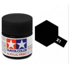 X1 noir - brillant -  Tamiya - peinture acrylique 10 ml