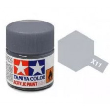 X11 chrome argent - brillant -  Tamiya - peinture acrylique 10 ml