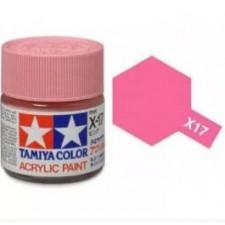 X17 rose - brillant -  Tamiya - peinture acrylique 10 ml