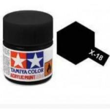 X18 noir satiné - brillant -  Tamiya - peinture acrylique 10 ml