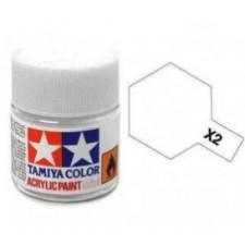 X2 blanc - brillant -  Tamiya - peinture acrylique 10 ml