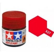 X27 rouge translucide - brillant -  Tamiya - peinture acrylique 10 ml