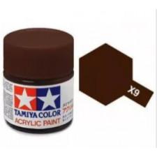 X9 brun - brillant -  Tamiya - peinture acrylique 10 ml