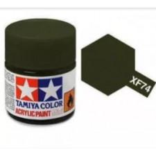 XF74 olive DRAB JGSD - mat -  Tamiya - peinture acrylique 10 ml