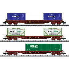 Wagenset Containertransport der SNCF